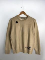 クルーネックニットセーター/S/ウール/1213-399-2180/スキー柄