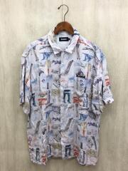 20SS/SORAYAMA/半袖シャツ/L/レーヨン/WHT/総柄/オープンカラー/01201406