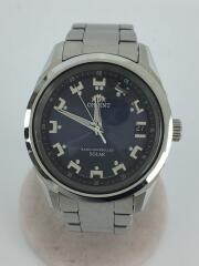 WV0071SE/クォーツ腕時計/アナログ/ステンレス/NVY/SLV