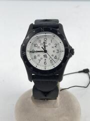 ×TIMEX/TW2R11200/腕時計/アナログ/レザー/WHT/BLK