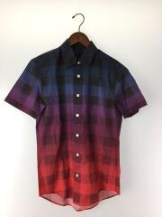 14ss/マサイチェックシャツ/半袖シャツ/XS/コットン/マルチカラー/チェック