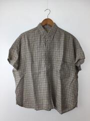 リネン BD プルオーバーシャツ/半袖シャツ/--/リネン/BEG/チェック