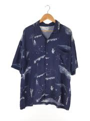 19ss/Bon Dance Aloha Shirt/アロハシャツ/M/レーヨン/NVY/総柄