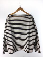 バスクシャツ/長袖Tシャツ/2/コットン/WHT/ボーダー/