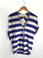Tシャツ/JA-T017/変形カットソー/S/コットン/マルチカラー/ボーダー