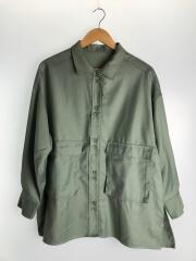 20年製/ビッグポケットデザインシャツ/長袖シャツ/FREE/ポリエステル/GRN