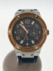 U0289L1/クォーツ腕時計/アナログ/--/BLU/IDG