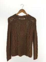 セーター(厚手)/S/ウール/BRW/メゾンマルジェラ/クルーネック ローゲージ ケーブル
