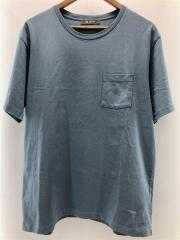 Tシャツ/XL/コットン/BLU/無地/ナノユニバース