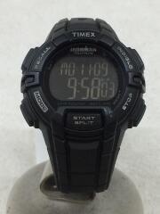 クォーツ腕時計/デジタル/ラバー/BLK/BLK/タイメックス