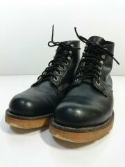 90s/四角犬タグ/8165/ブーツ/US7.5/BLK// CLASSIC PLAIN TOE  プレーントゥ