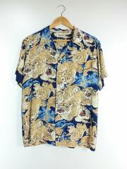 ONE HUNDRED TIGERS/百虎/KALAKAUA/アロハシャツ/S/レーヨン/NVY/SS36986