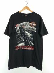 USA製/Tシャツ/L/コットン/BLK