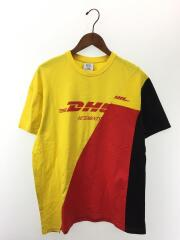 18SS/DHL CUTUP Tシャツ/再構築/M/コットン/イエロー/トップス/TEE SHIRTS