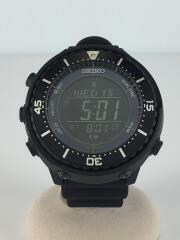 Prospex Fieldmaster UR EX/ソーラー腕時計/アナログ/ラバー/ブラック