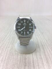 自動巻腕時計/アナログ/ステンレス/BLK/SLV/ER2D-C0-B