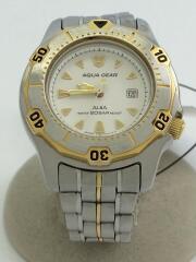 クォーツ腕時計/アナログ/ステンレス/ホワイト/シルバー/V782-0270