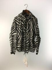 Zebra Print Mountain Wind Parka/ナイロンジャケット/M/ナイロン/ブラック/アニマル