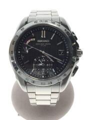 ブライツ/ソーラー腕時計/アナログ/ステンレス/ブラック/シルバー/8B54-0AA0/ワールドタイム