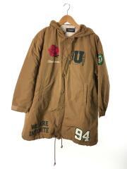 ベンチコート/裏ボアブードコーチジャケット/UCV1313-2/日本製/ポリエステル/キャメル