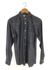 ウエスタンシャンブレーシャツ/長袖シャツ/XS/コットン/S21014/フランス製