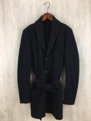 コート 1 ウール ブラック 無地 AC12-335