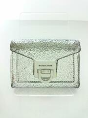 2つ折り財布/レザー/シルバー/スモールレザーウォレット