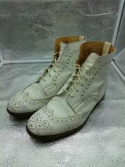 ブーツ/UK8.5/ホワイト/レザー/M7059/ひび割れ有