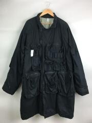 ミリタリージャケット/L/コットン/ブラック/M-CO1001/MILITARY RAGRAN OVER COAT