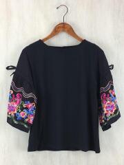 Tシャツ/M/レーヨン/ブラック/ZA85141