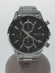 クォーツ腕時計/アナログ/ステンレス/シルバー/VD57-KND0