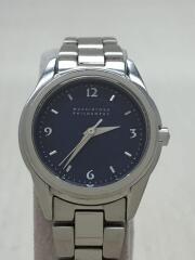 クォーツ腕時計/アナログ/NVY/SLV