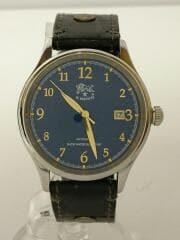 自動巻腕時計/アナログ/レザー/NVY/BLK/5422315097