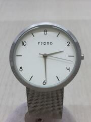 fjord/フィヨルド/クォーツ腕時計/アナログ/WHT/SLV/vj-3027