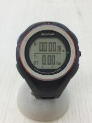 soma/ソーマ/GPS機能付き/腕時計/デジタル/ラバー/BLK