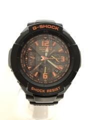 ソーラー腕時計・G-SHOCK/アナログ/ラバー/BLK/BLK