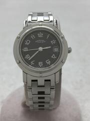 クリッパー/クォーツ腕時計/アナログ/--/BLK/SLV/CL4.210