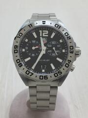クォーツ腕時計・フォーミュラ1/アナログ/シルバー/ブラック/黒/WAZ111A/BA0875/クロノグラフ FORMULA1
