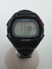セイコー/腕時計/デジタル/ラバー/CLR/ブラック