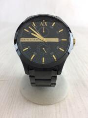 クォーツ腕時計/アナログ/ステンレス/ブラック/黒/AX2121/インダイヤル/3針
