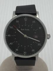 ポールスミス/クォーツ腕時計/アナログ/レザー/ブラック