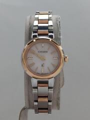 ソーラー腕時計/アナログ/ステンレス/WHT/SLV/シルバー/ホワイト/B036-T01656