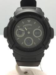 カシオ/クォーツ腕時計・G-SHOCK/アナログ/ラバー/BLK/ブラック