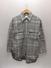 ウォッシャブルビッグチェックシャツ/--/コットン/GRY/チェック