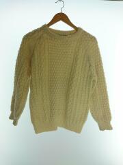 Clady Knit/セーター(厚手)/38/ウール/アイボリー