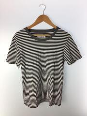 Tシャツ/XS/コットン/ホワイト/ボーダー