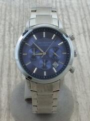 クォーツ腕時計/アナログ/ステンレス/ブルー/シルバー/BA0029/クロノグラフ