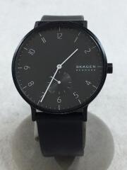 クォーツ腕時計/アナログ/ラバー/ブラック/SKW6544/741905