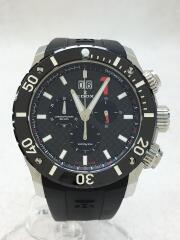 EDOX/エドックス/クォーツ腕時計/アナログ/ラバー/BLK/BLK/10020-3-NIN