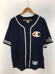 チャンピオン/メッシュベースボールシャツ/L/ポリエステル/ネイビー/紺色/C3-H365